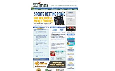 5Dimes Welcome Screen