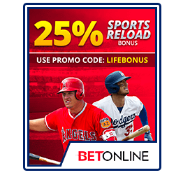 BetOnline 25% Lifetime Bonus
