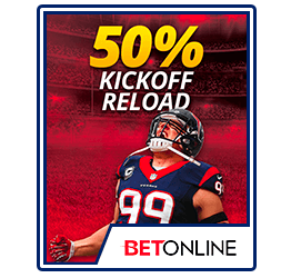 BetOnline 50% Kick off Reload Bonus