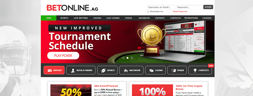 BetOnline Promotional Offers Page