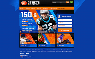 GT Bets Welcome Screen