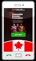 Mobile Betting Canada BetOnline