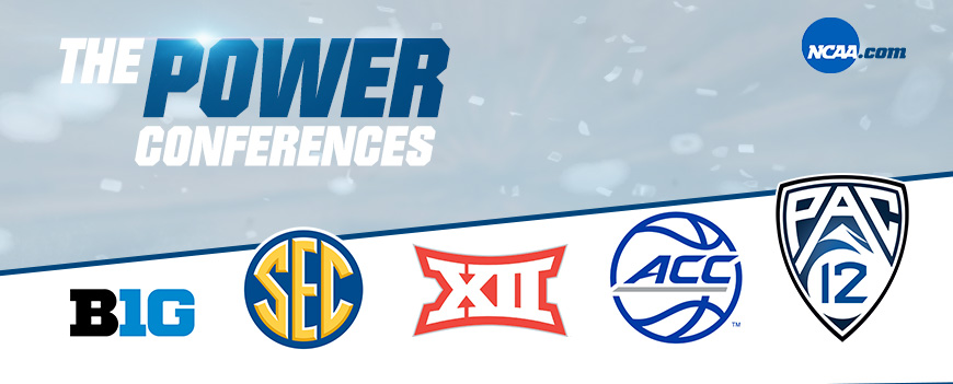 ncaab power conferences big 10, acc, big 12, sec, pac 12