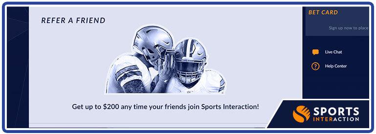 refre a friend bonus sports interaction
