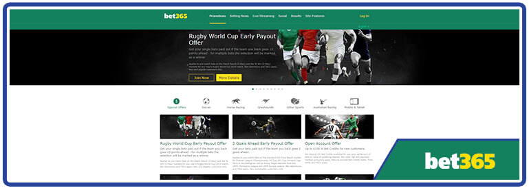 review Bet365 promotions page