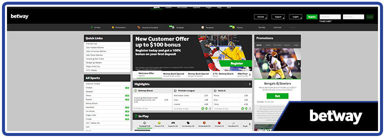 review betway sports betting page