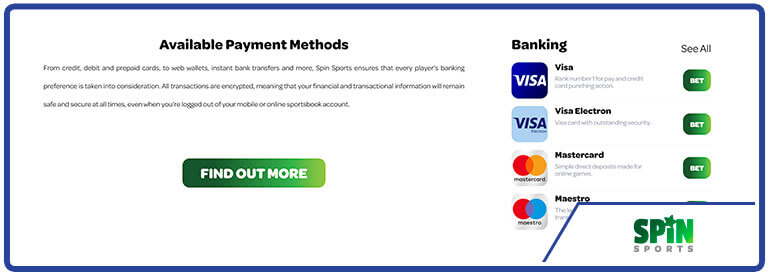 Review Spin Sports Banking Options