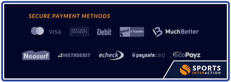 secure payment deposit withdrawal options sports interaction
