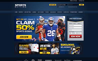 SportsBetting.ag Welcome Screen
