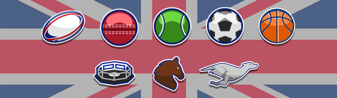 UK sports betting most popular sports, american football, baseball, tennis, football, basketball, ufc, horse racing and dog racing